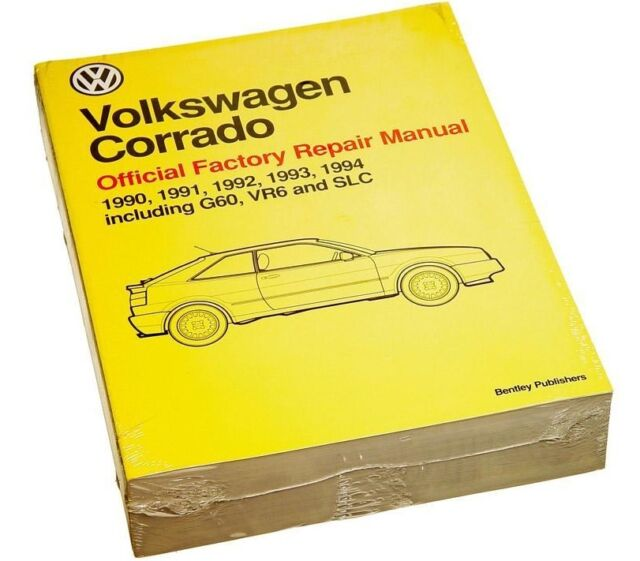 bentley volkswagen corrado repair manual 90 94 vw8000300 ebay rh ebay com 1992 Volkswagen Corrado SLC Corrado Shocks