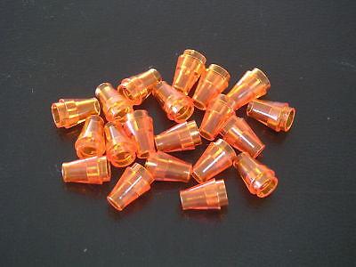 Lego 20 cônes 1x1 jaunes neufs 20 New Yellow cones 1x1 REF 4589