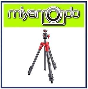 Manfrotto-MKCOMPACTLT-Compact-Light-Aluminium-Tripod-w-Ball-Head-Red