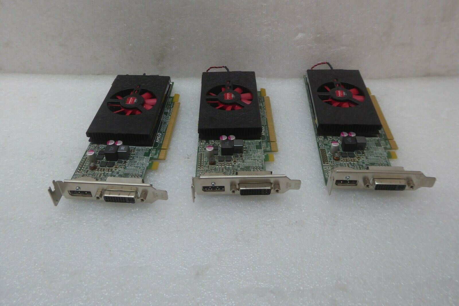 (3) Dell AMD Radeon HD 8570 1GB DDR3 PCIe x16 Low Profile Video Graphics Cards