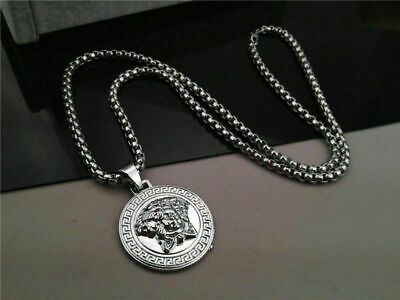 Medusa Head Silver Chain Necklace UK