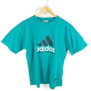 Vintage-Adidas-Equipment-T-Shirt-Herren-Gr-D8-L-Gruen-Retro-90er