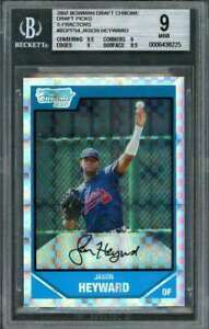 2007 bowman draft chrome dp xfractors #bdpp54 JAYSON HEYWARD BGS 9 (9.5 9 9 8.5)
