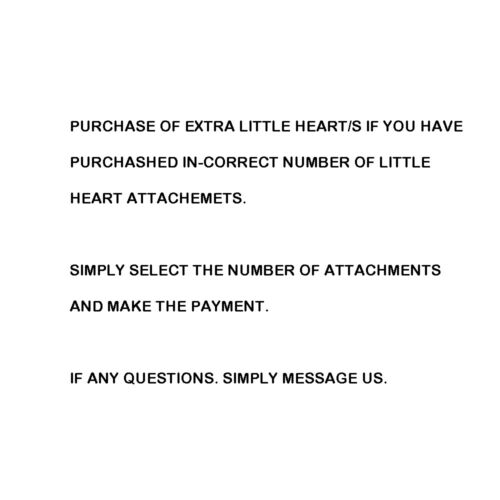 Purchase of little Heart Attachements If you purchased attachements in-correctly