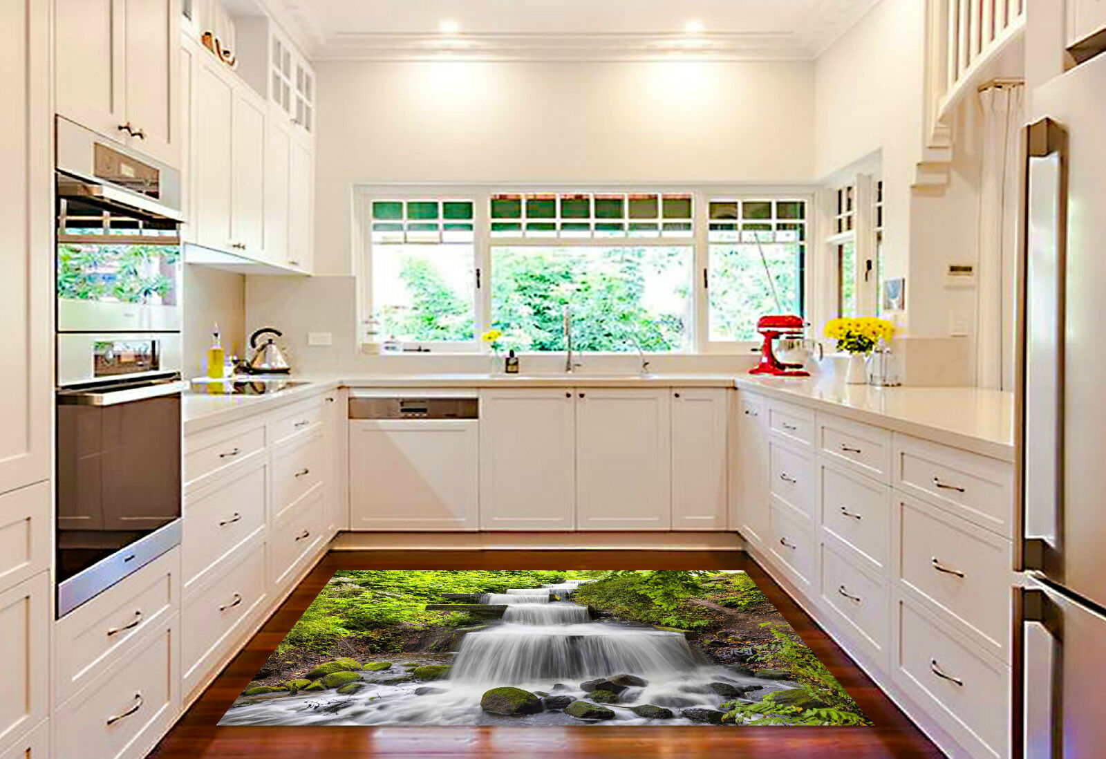 3D Stairs River 4 Kitchen Mat Floor Murals Wall Print Wall Deco AJ WALLPAPER CA