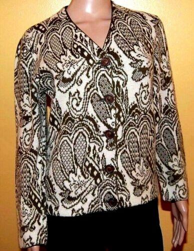70s Catalina Vintage Wool Sweater Jacquard Womens