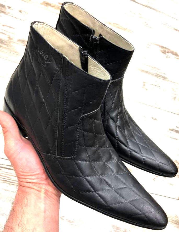 RegaIan botas señores Designer Business botín botas cierre por cremallera 45
