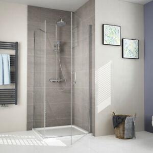 Duschwand 90x90 80x80 Schwingtür und Seitenwand Dusche Duschkabine ...