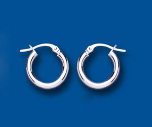 14mm Plain Hoop Earrings Jewelry