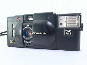 < Quasi Nuovo + > Olympus XA4 Macro + A11 Flash 35mm Compatto Pellicola Fotocamera Giappone 2633