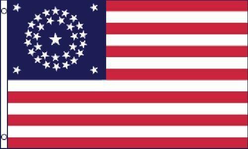 34 Star Round US Civil War Flag 3x5 ft United States USA American Union Army