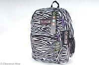 Jansport Backpack Super Max Zebra W/purple 15 Laptop Comfort Padding 2401