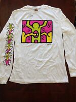 Keith Haring Long Sleeve Holes White T-shirts By Junk Food Sizes S, M, L, Xl