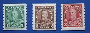 CANADA (#228-230) 1935 King George V MNH singles set