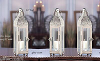 5 Moroccan Silver 12 Tall Candle Holder Lantern Lamp Wedding Table Centerpiece