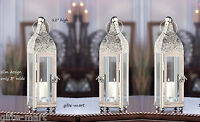 10 Moroccan Silver 12 Tall Candle Holder Lantern Lamp Wedding Table Centerpiece