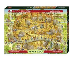 MARINO DEGANO - FUNKY ZOO: AFRICAN HABITAT - Heye Puzzle 29639 - 1000 Teile Pcs.