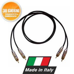 CAVO-RCA-STEREO-PROFESSIONALE-HI-FI-5m-MADE-IN-ITALY-DJ-CONSOLE-CDJ-MIXER-DDJ