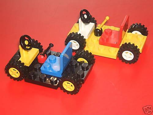 Rodas volante e equipamentos Stick banco Lego Conjunto De 2 Carros//gocarts