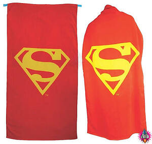 Official large superman superhero cape logo red beach bath towel new image is loading official large superman superhero cape logo red beach voltagebd Choice Image
