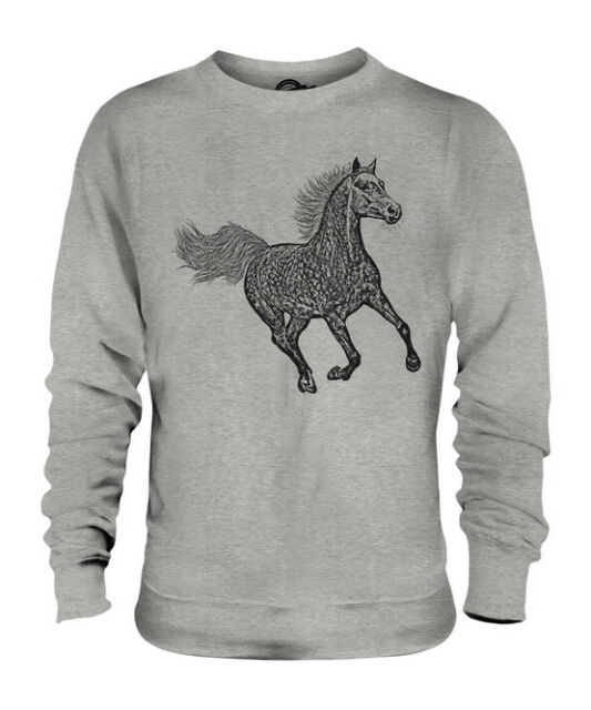 Horse Sweatshirt Horse Outline Equestrian Horse Lover Gift Hoodie