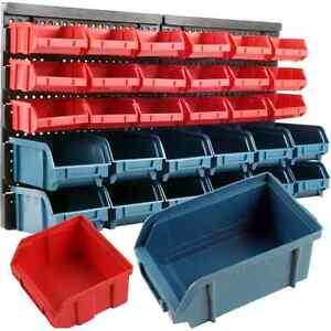 Image Is Loading Wall Mounted Storage Rack 30 Bin Parts Tool