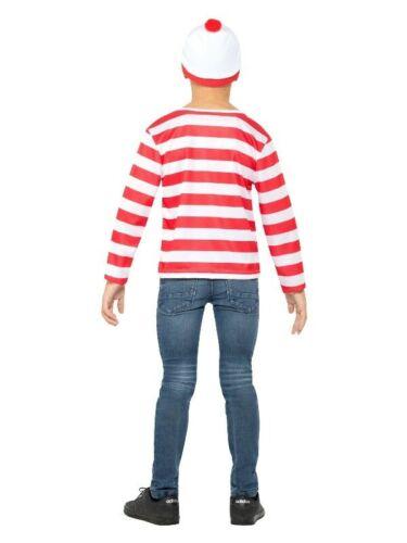 Licensed Child Girls Boys Wheres Wally Waldo Costume Book Week Kids Teen T-Shirt