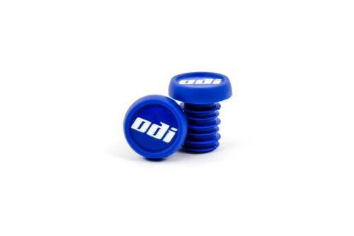 ODI BLUE PUSH-IN STYLE BICYCLE GRIP BARENDS END PLUGS--1 PAIR