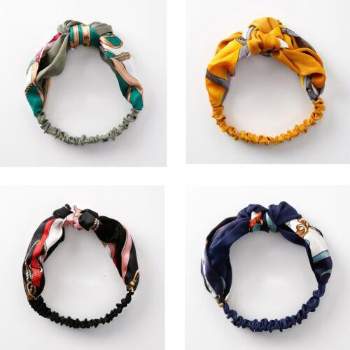 Womens Crossover Headband Head Wrap Scarf Elastic Hair Band Headband Four color