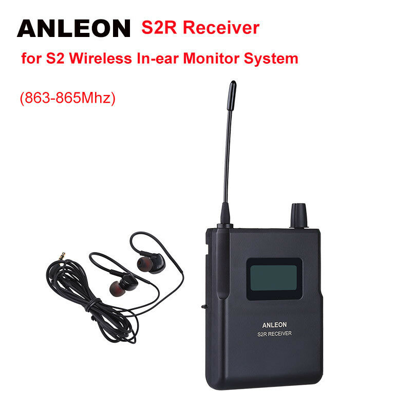 ANLEON S2-R Receiver For Stage Personal Stereo System Monitor IEM UHF 863-865Mhz