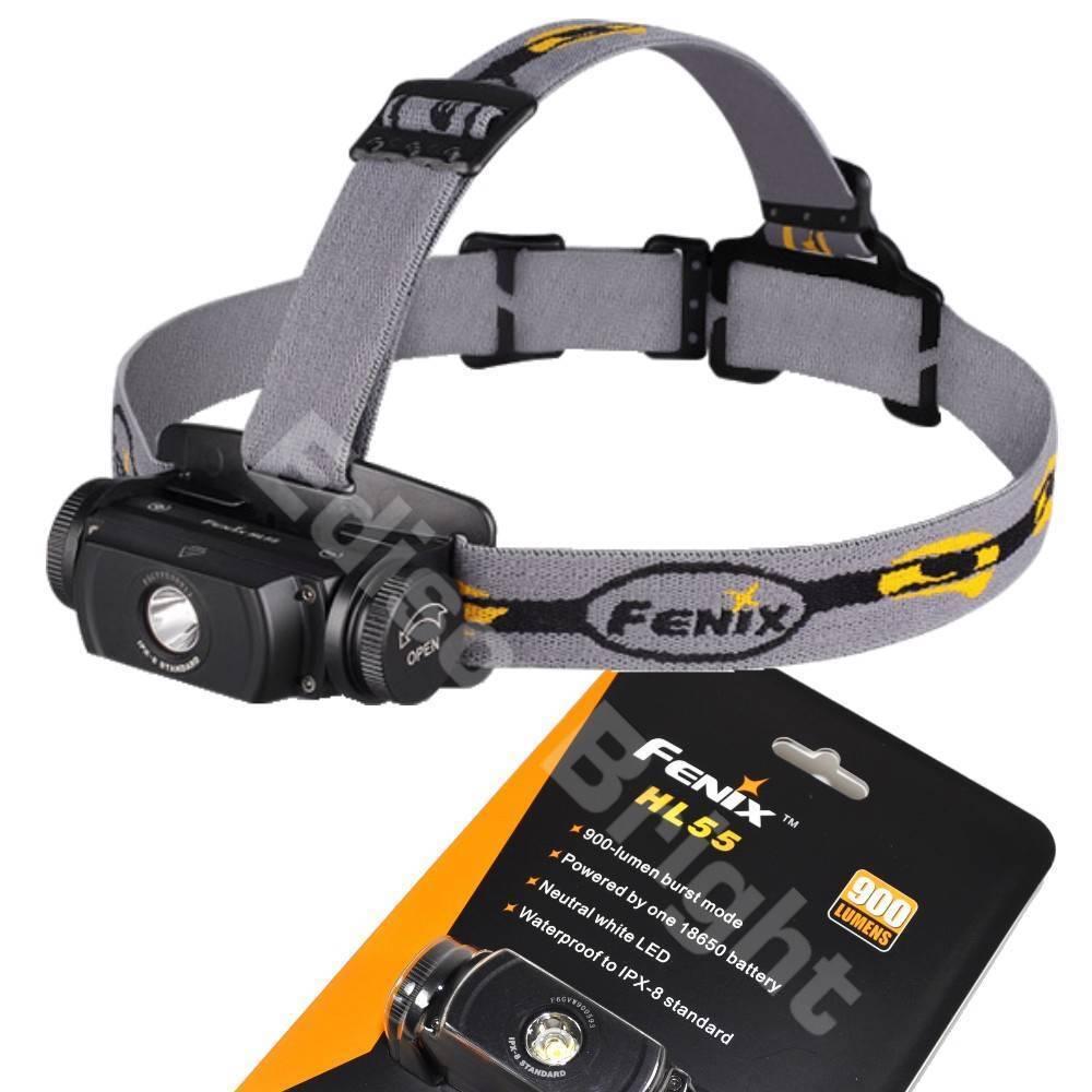 New Fenix HL55 900 Lumen CREE  XM-L2 T6 LED Headlamp - Neutral White Head Light  save 35% - 70% off