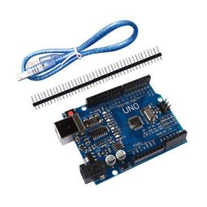 1PCS-For-Arduino-UNO-R3-ATmega328P-CH340G-Development-Board-USB-Cable