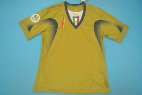 Italy 2006 Goalkeeper Home Buffon Short-Sleeve Soccer Retro Jersey Gold