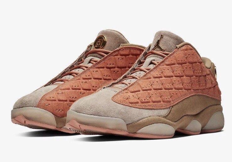 Nike Air Jordan 13 Low CLOT Sepia Stone Terracotta Warriors AT3102 Size 13Nice