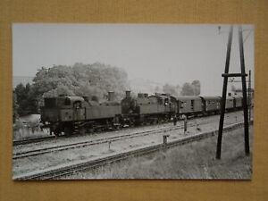 7150 Pressefoto ÖBB Dampflok Reihe 93 Doppeltraktion St.Pölten 1967