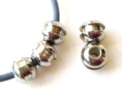 Acero inoxidable perlas spacer 6,5x8mm para cintas 2,8mm 10//50 unidades serajosy