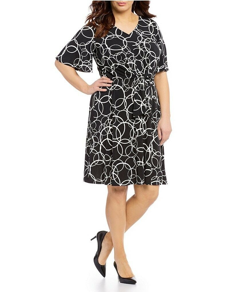 31889c750e081 London Times Women's Flutter Sleeve Front Fit and Dress. Size 16 ...