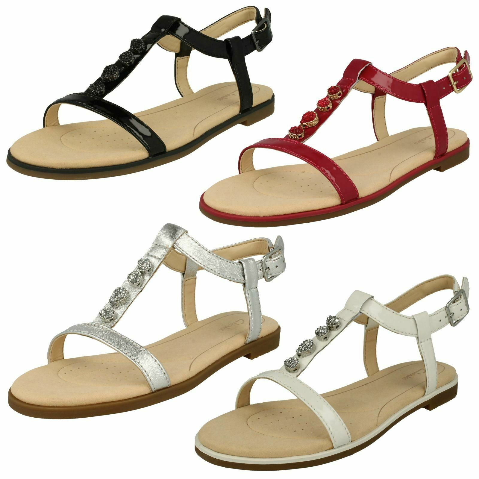 Ladies Clarks Bay Blossom Casual Slingback Sandals