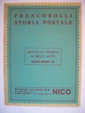 FRANCOBOLLI STORIA POSTALE LISTINO DI VENDITA 1980   ( aa5 )