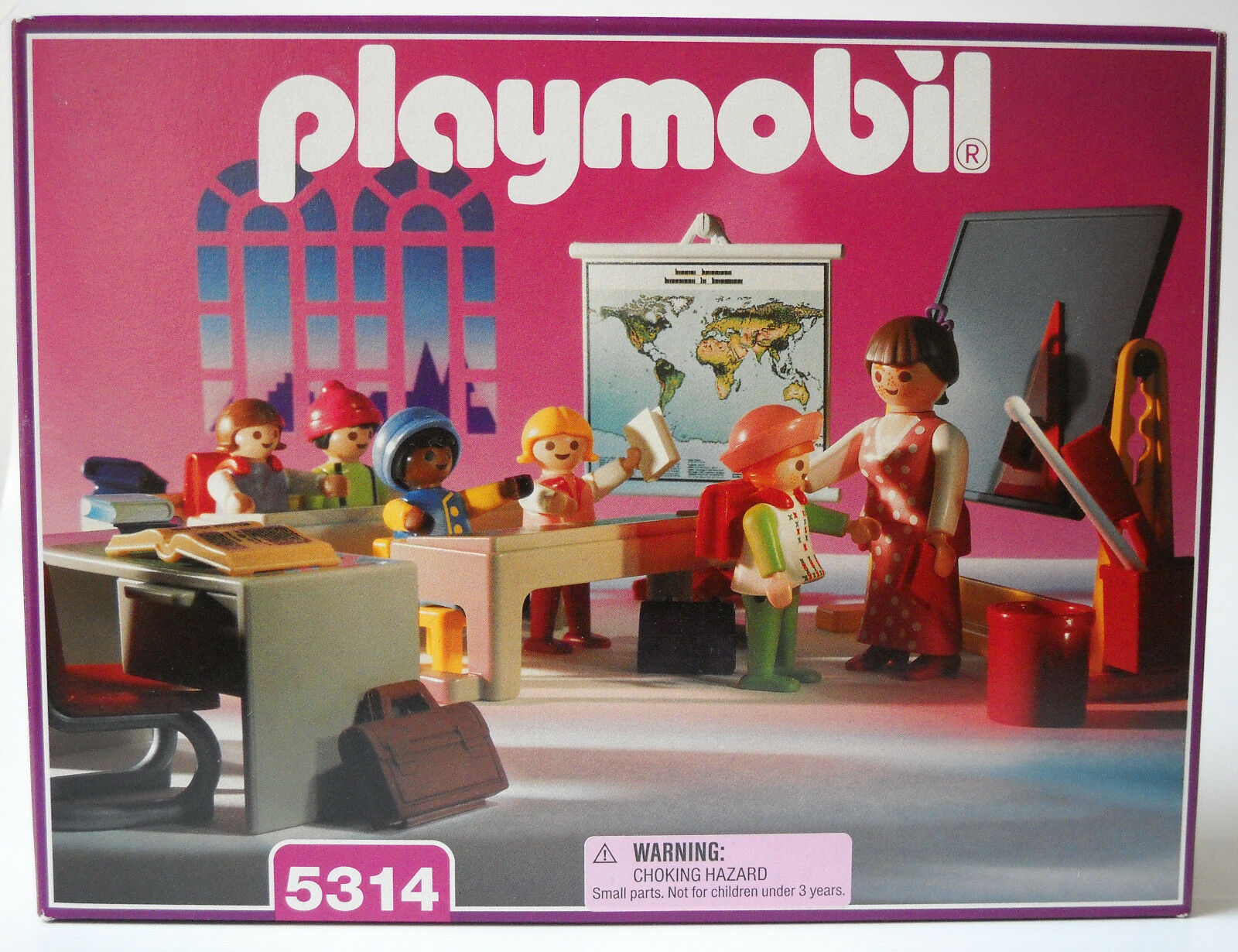Vintage playmobil 5314  Victorian School classroom pour manoir 5300  New In Box Sealed EXC
