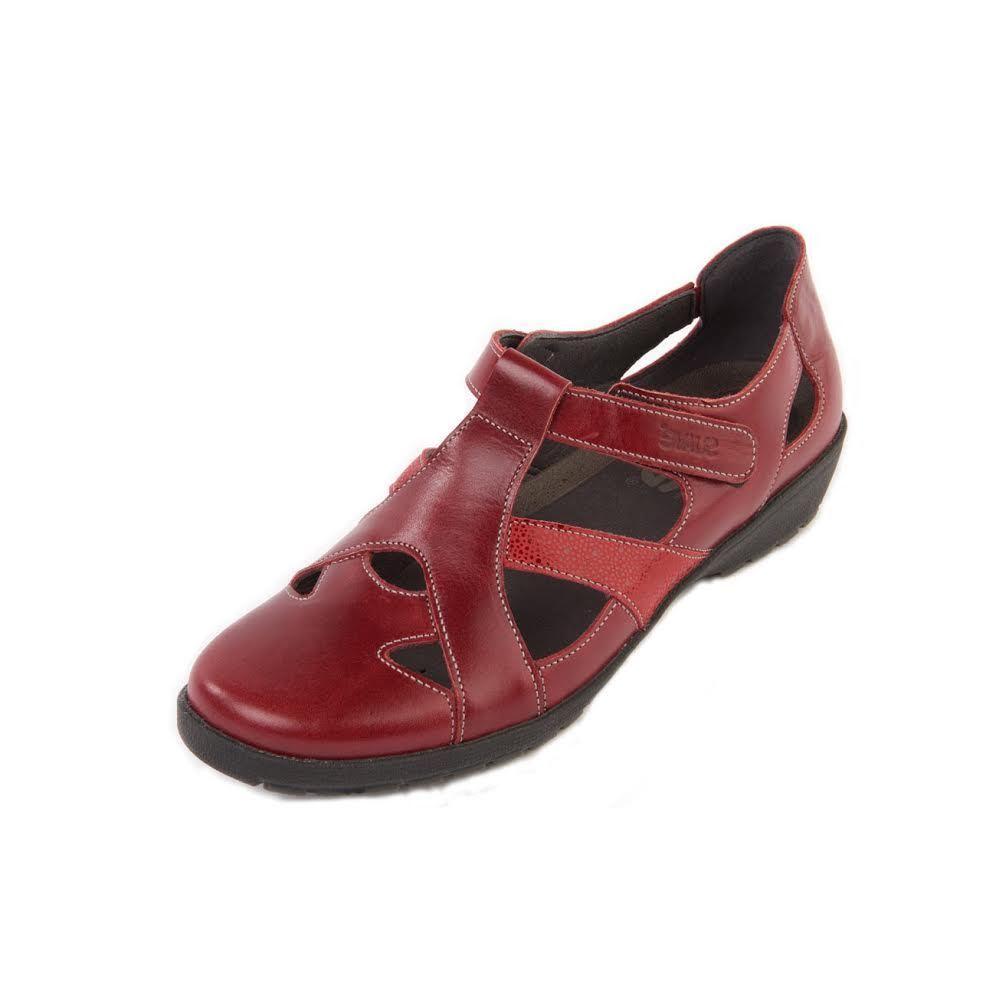 Mujer señoras cuero de cuero señoras plano Suave Jacky Confort Plantilla Antideslizante en Zapatos Sandalias e39510