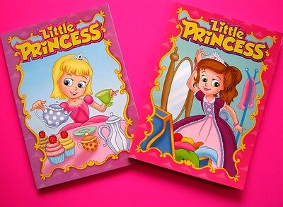 2 x Little Princess Coloring & Activity Books 96 Pages Xmas Gifts FREE POST
