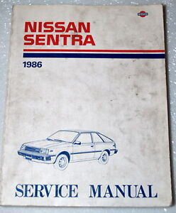 1986 nissan sentra factory dealer shop service repair manual book rh ebay com High Style B115 Arrangment B11 Excel