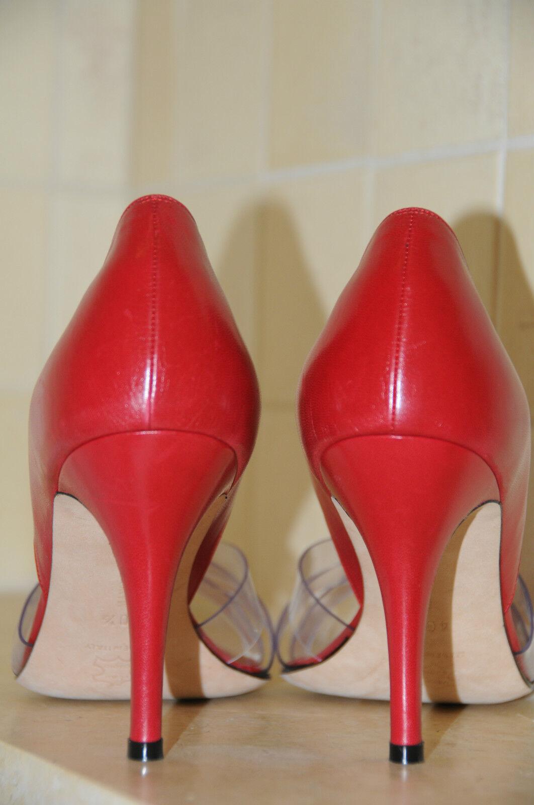 Zapatos de Cuero  675 Nuevos PVC de Manolo Blahnik Ferrari Rojo PVC Nuevos 40.5 d0a9d0