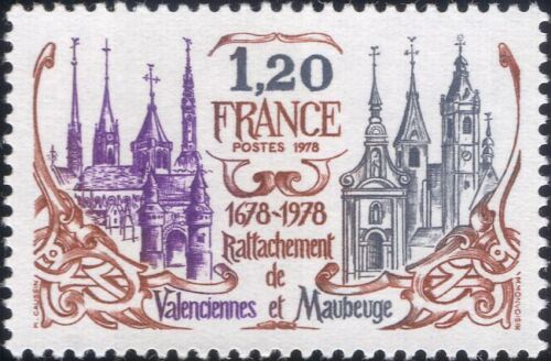 France 1978 Cathedral/Church/Clock Tower/Town Gate/Buildings/History 1v (n46142)
