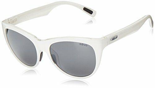 Revo Womens Polarized Sunglasses Barclay Cat Eye Frame 54 mm, White Frame,
