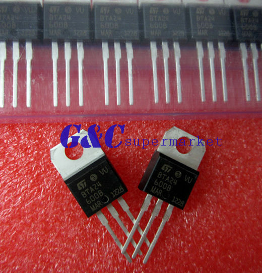 5PCS BTA24-600B BTA24 TRIAC 600V 25A TO-220AB NEW GOOD QUALITY T5