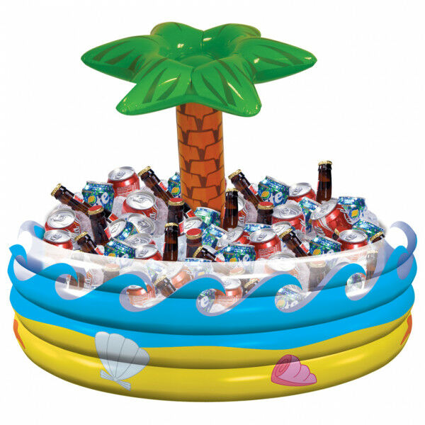 Inflatable Hawaiian Palm Tree Drink Cooler Luau Garden Tropical Pool Party BBQ