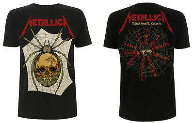 METALLICA Spider Skull,Tour 2015 Official Licensed Authentic HQ T-Shirt,Megadeth