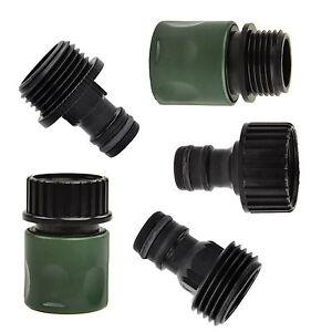 5-pezzi-Pompa-Da-Giardino-Collegamento-Rapido-Kit-Set-Plastica